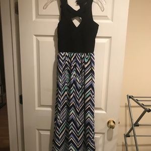 Blue, Navy and Black Maxi Summer Dress